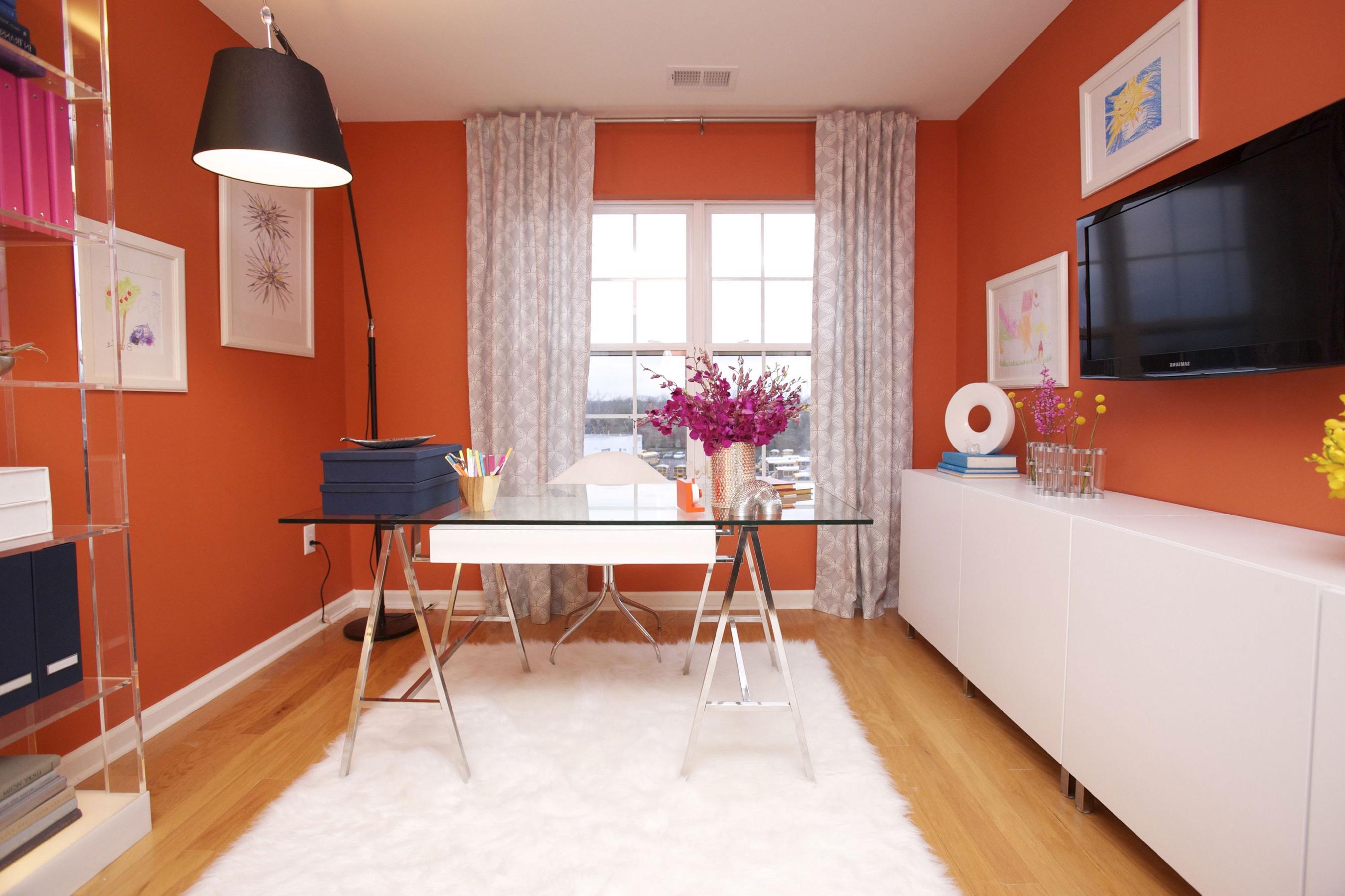 Stylish Minimalist Home Office (View 42 of 50)