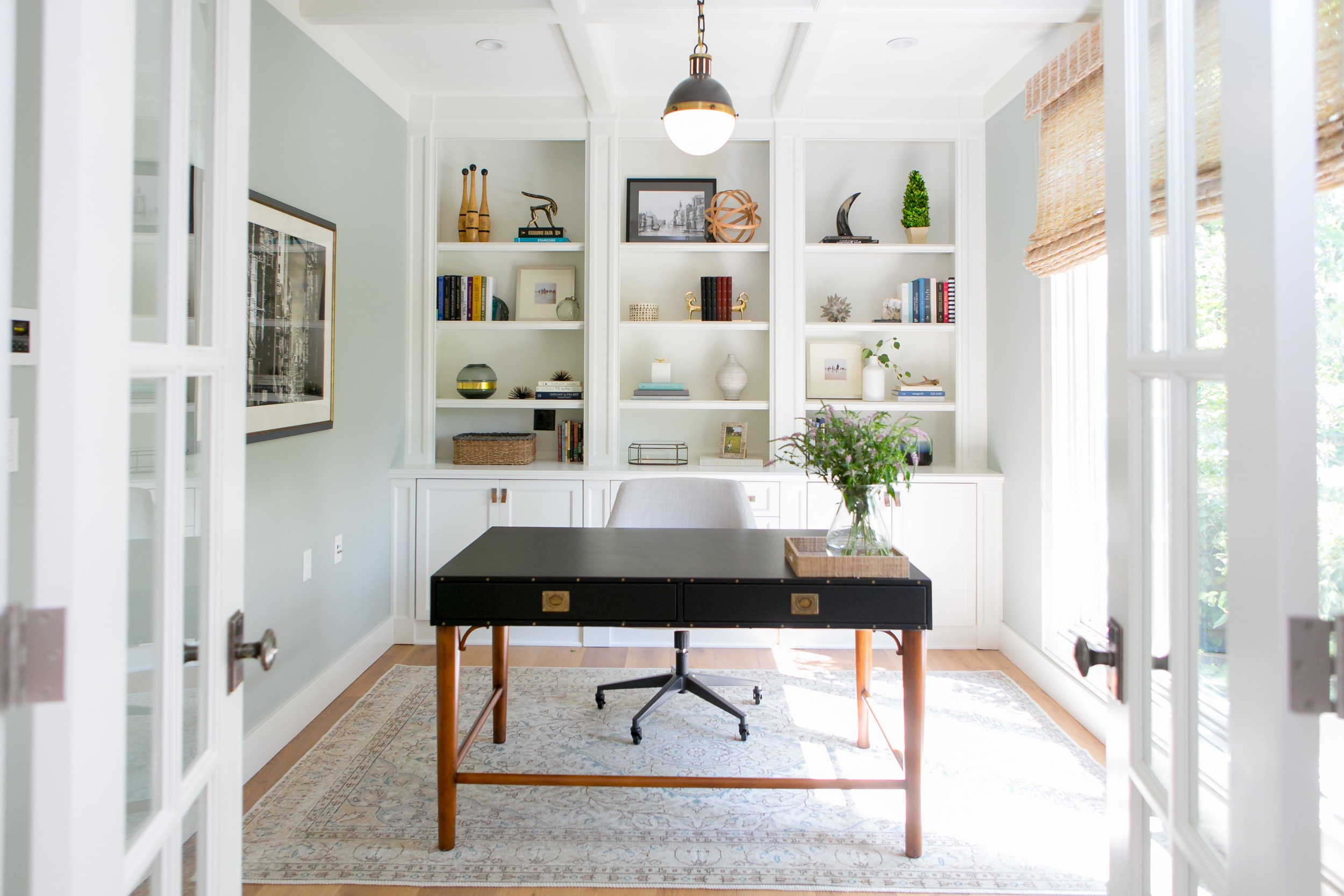 Traditional Home Office Remodel With Modern Accents (View 44 of 50)