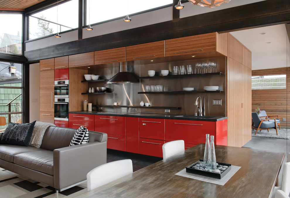 Urban Single Wall Open Concept Kitchen (Image 15 of 15)
