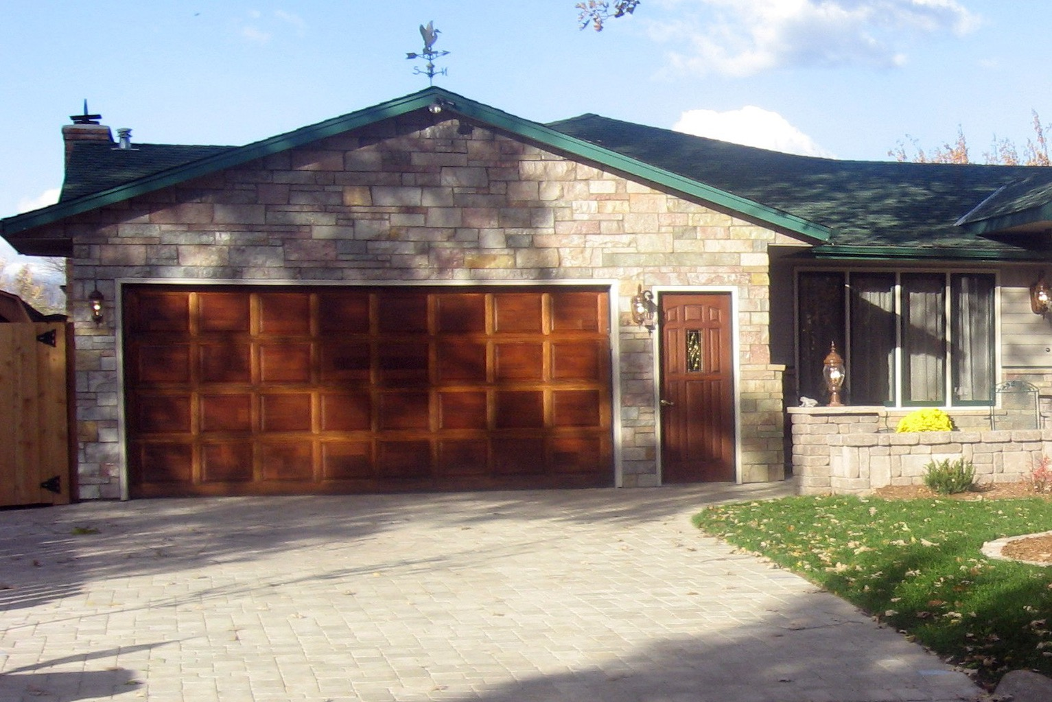 Wood Stained Garage Door (Image 34 of 38)