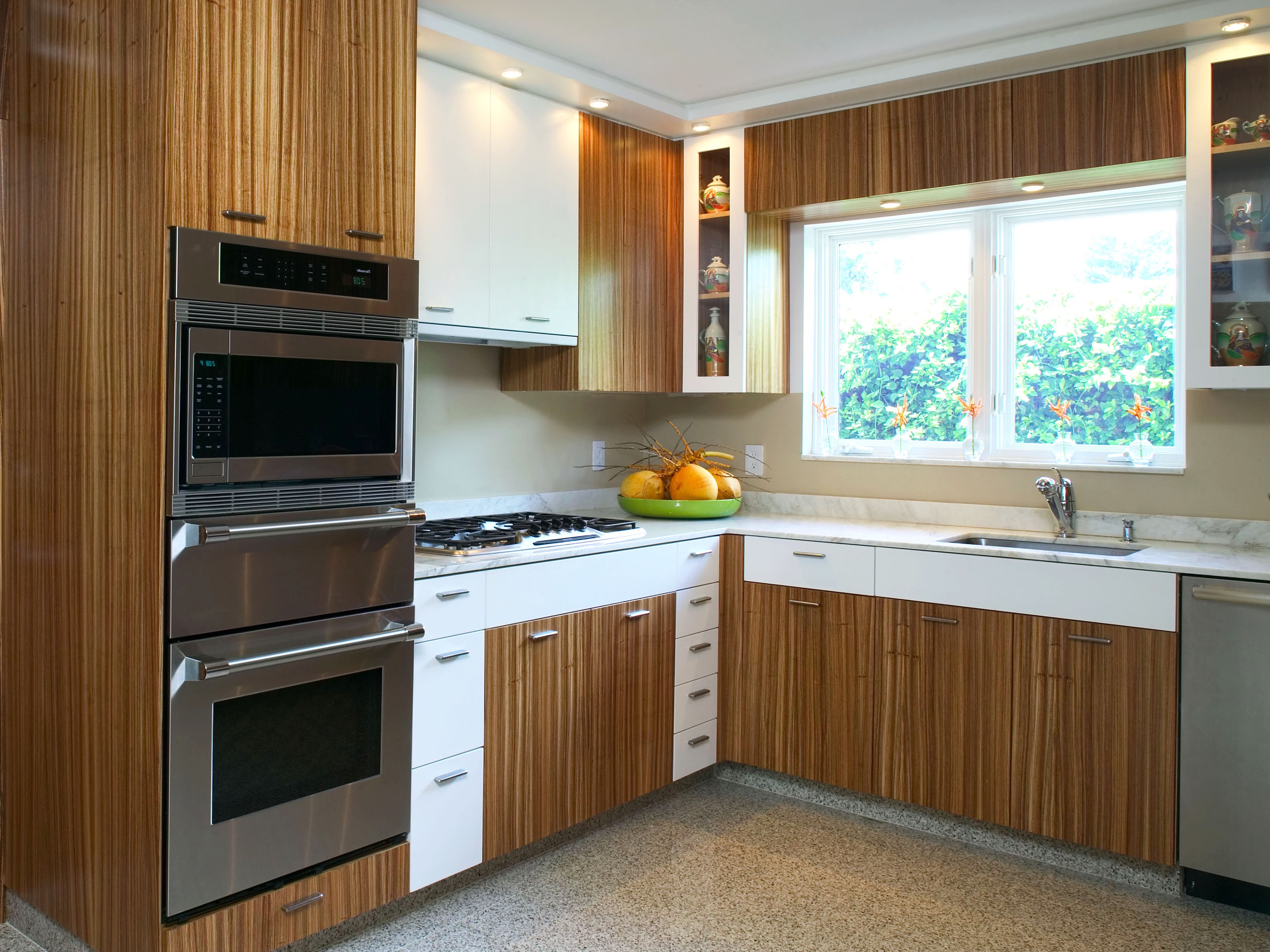 Zebra wood kitchen cabinets - Zebrawood Cabinets For Modern Kitchen Image 18 Of 18