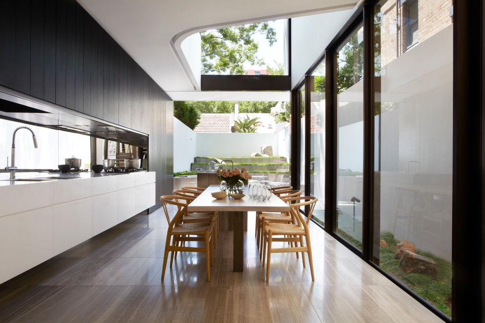 Amazing Contemporary Kitchen And Dining Room Combo (View 1 of 20)