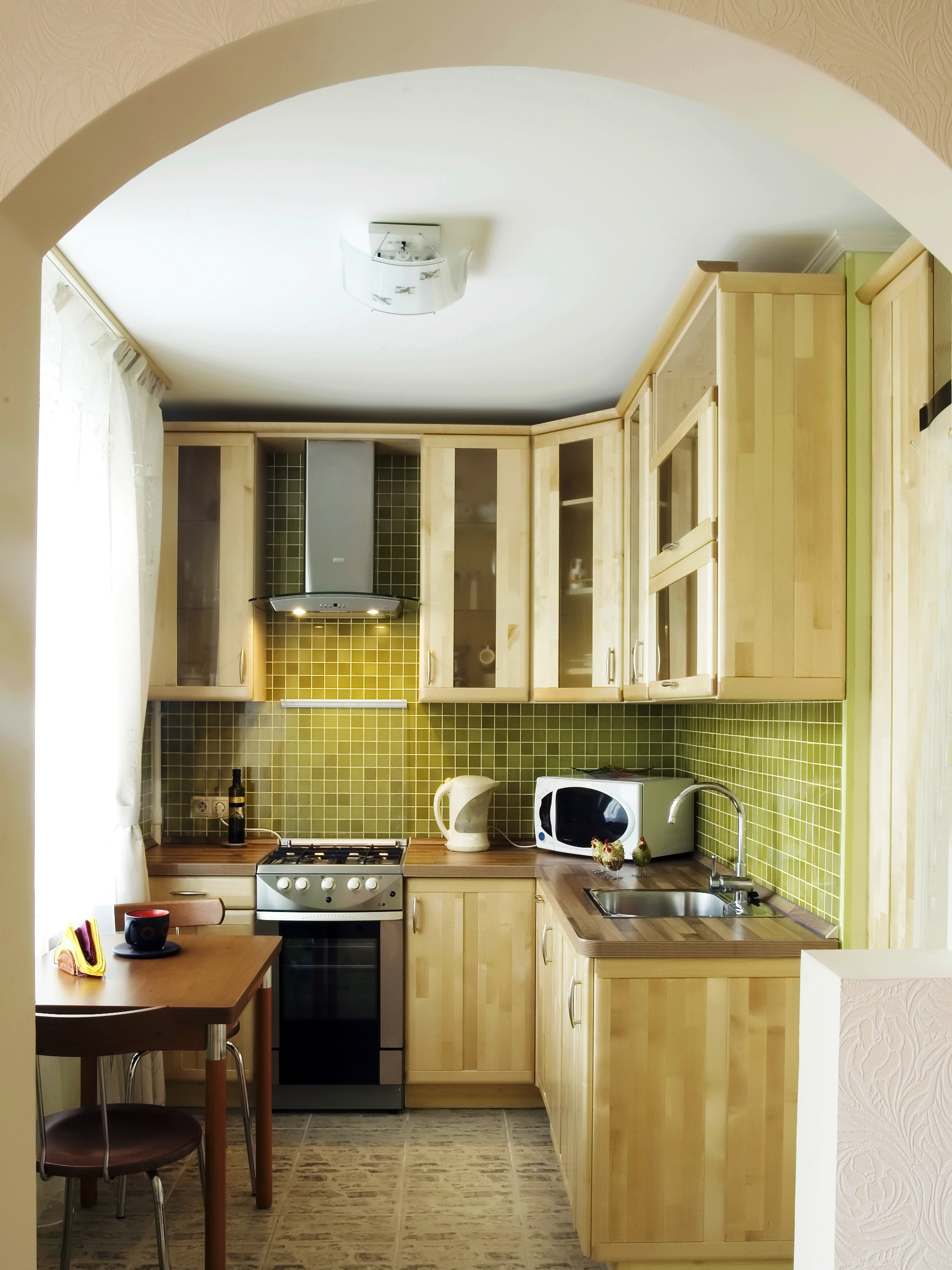Beauty Modern Small Kitchen With Wooden Cabinets (Image 1 of 24)