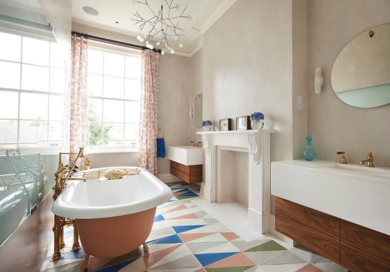 Featured Image of 20 Retro Style Bathroom Design Ideas