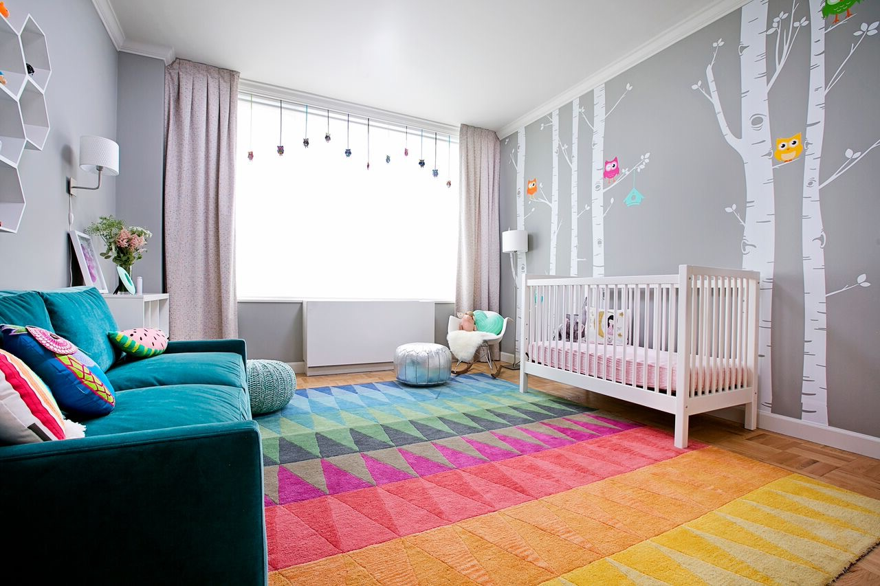 Colorful Girl's Nursery Baby Room Decoration (Image 8 of 33)
