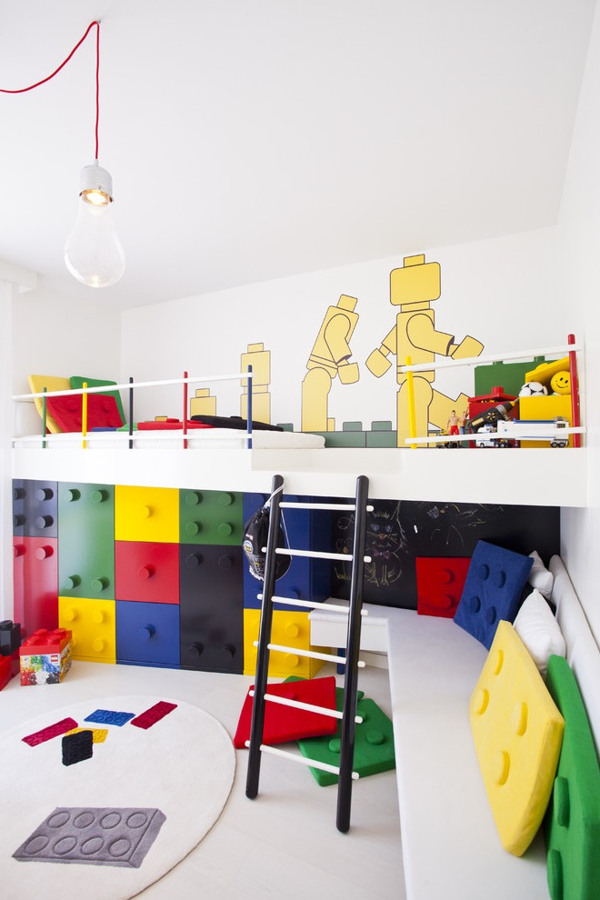 Contemporary Kids Playroom With LEGO Theme (Image 9 of 30)