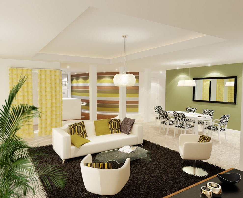 Contemporary Modern Middle Eastern Inspired Living Room (View 2 of 15)