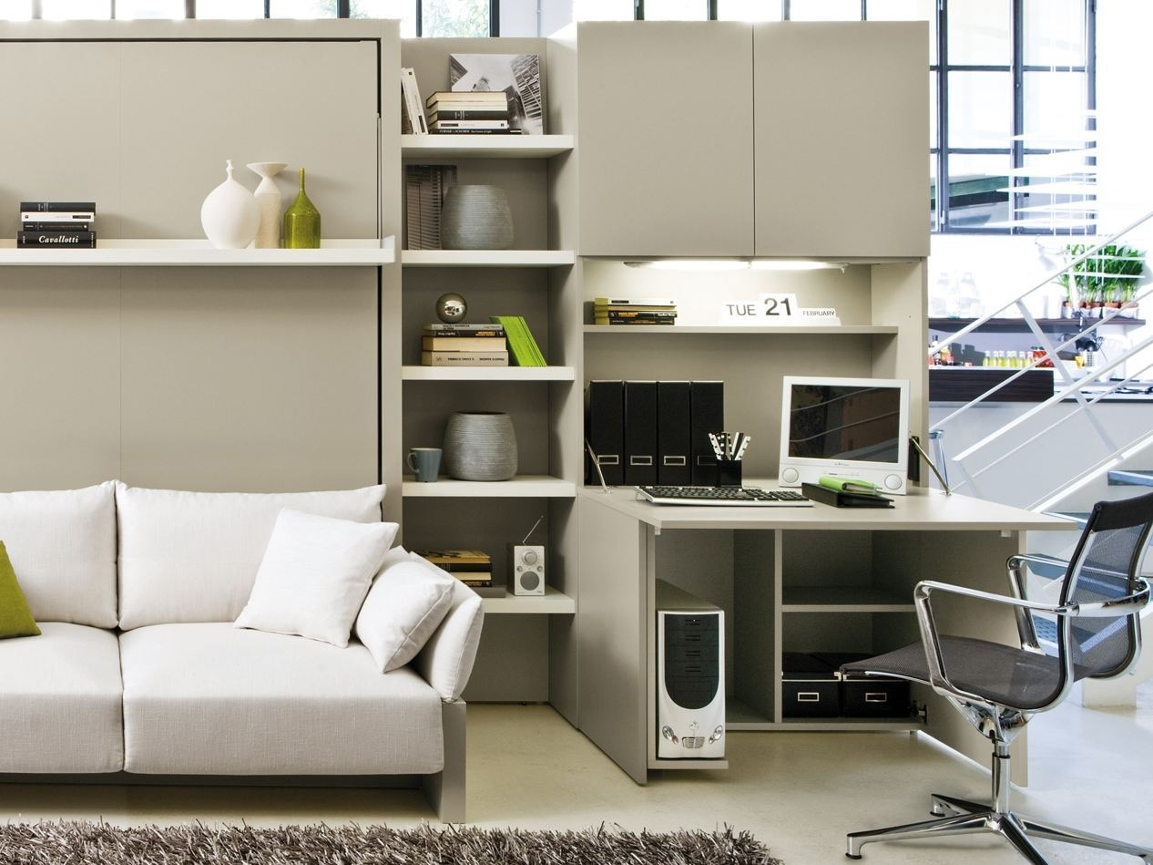 Contempory Modular Home Office Furniture White Color (Image 16 of 50)