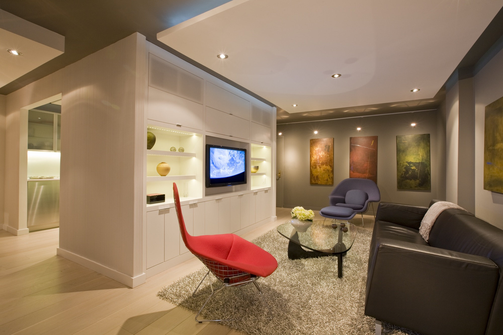 Cozy Modern Entertainment Center (Image 6 of 15)