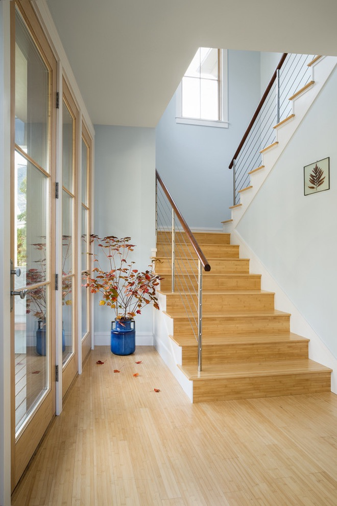 Elegant Bamboo Flooring For Modern Staircase Design (Image 10 of 20)