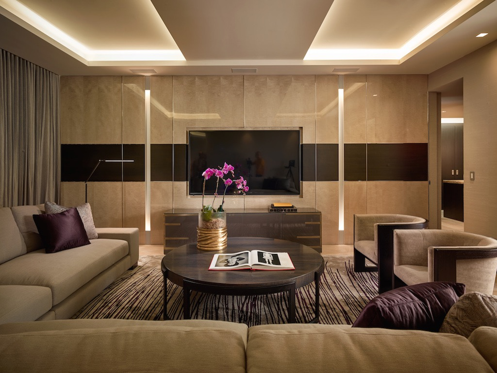 Elegant Multimedia Room In Modern Design (Image 7 of 15)