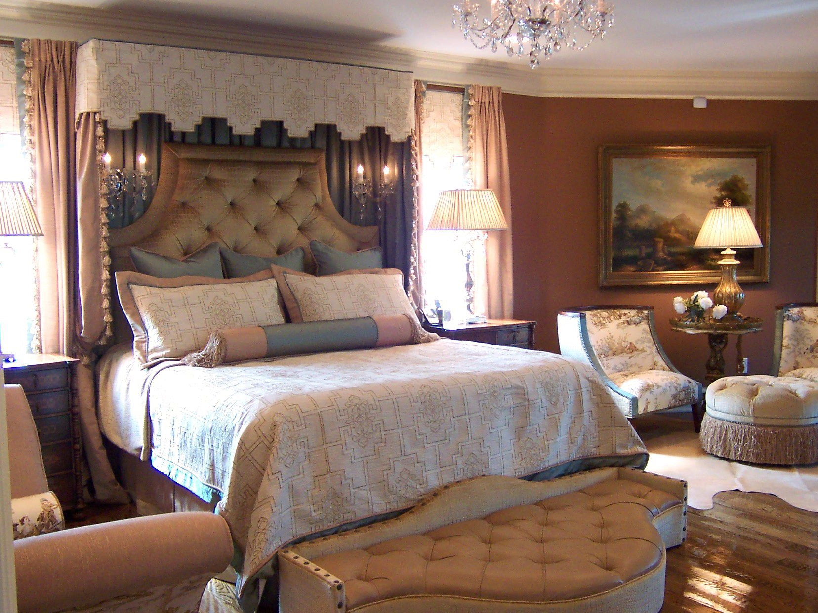 Elegant Victorian Bedroom With Custom Canopy (View 23 of 30)