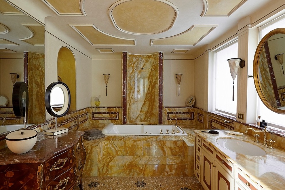 Ethnic Style Marble Bathroom Interior (View 10 of 15)