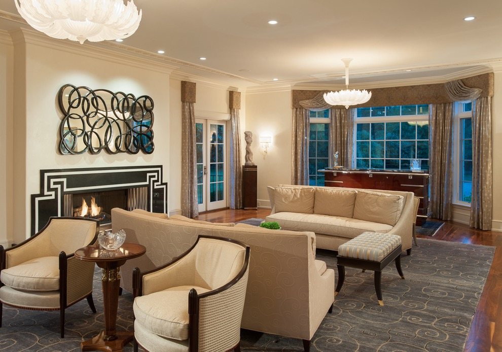 Fashionable Art Deco Living Room (View 8 of 20)