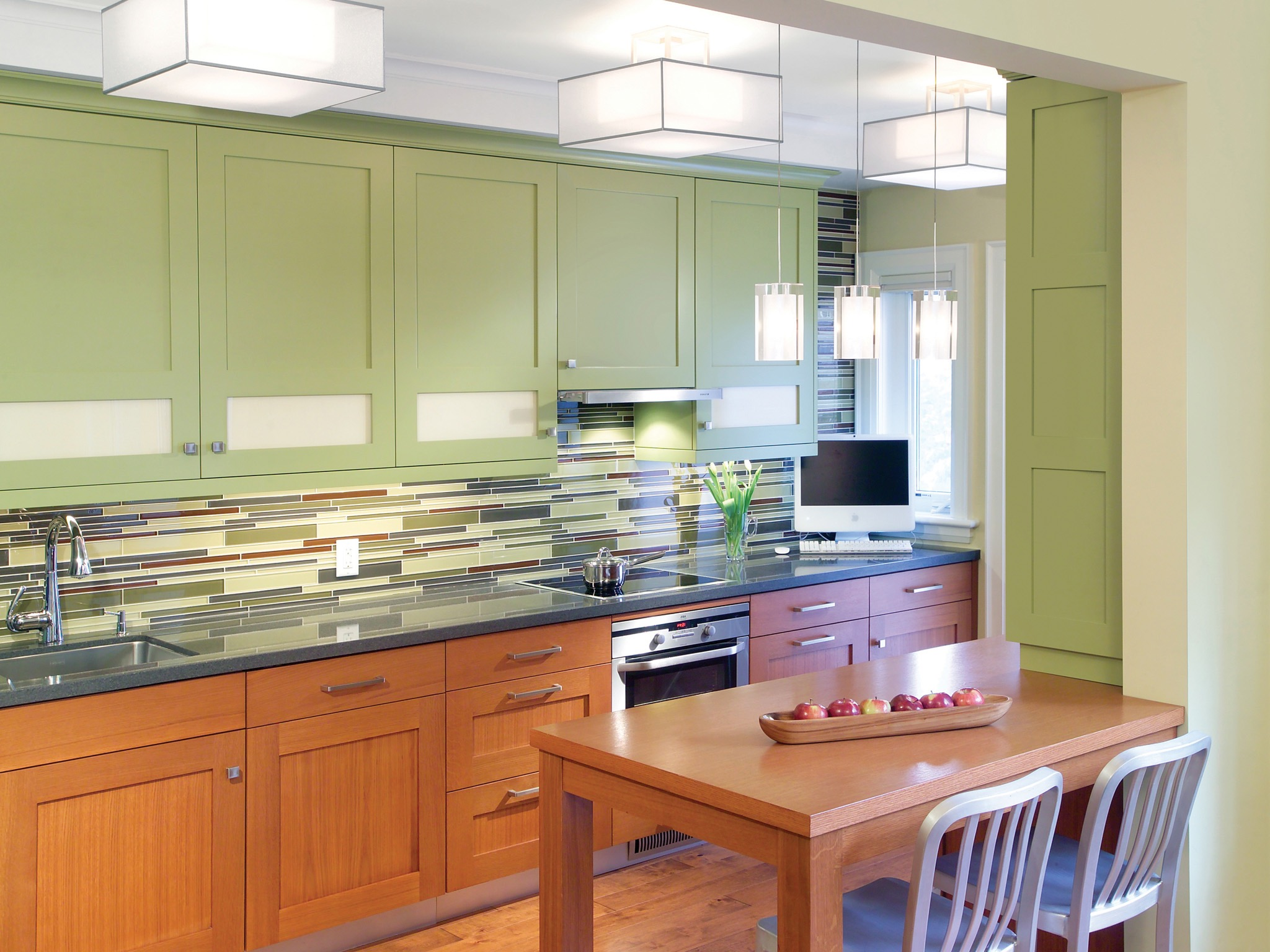 Green Kitchen Cabinets For Fresh Look Image 9 Of 18