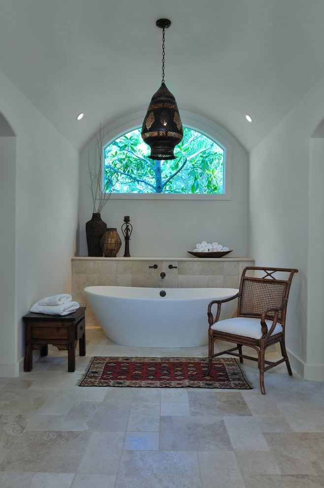 Mediterranean Bathroom With Spa Like Ambience With An Ethnic Vibe (View 5 of 15)