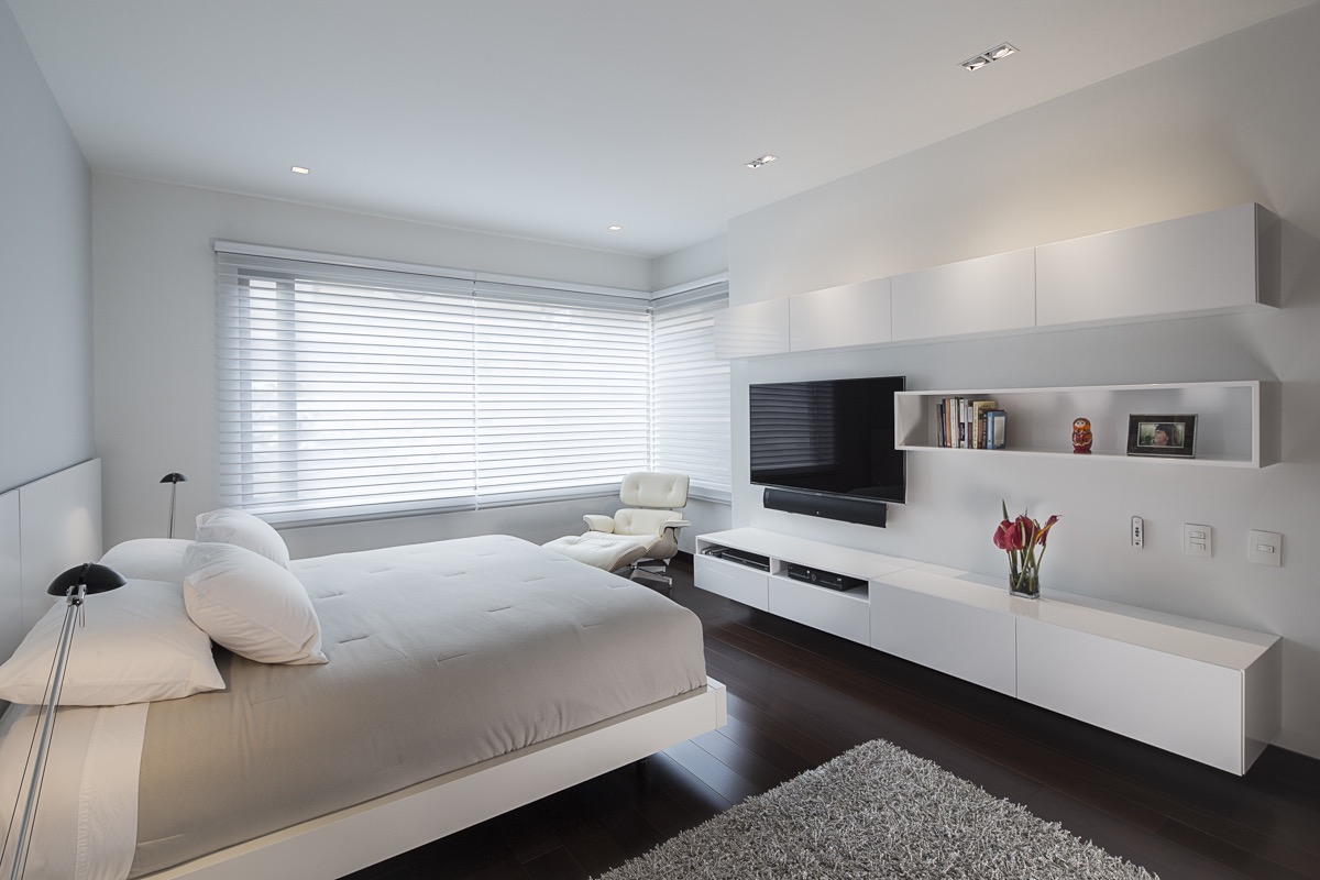 Minimalist Modern Apartment Bedroom With TV (Image 15 of 30)