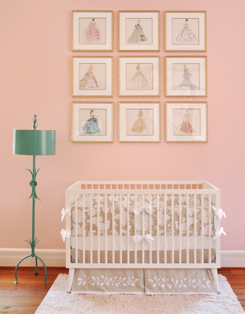 Minimalist Vintage Baby Room Decor In Pink Theme (Image 17 of 33)