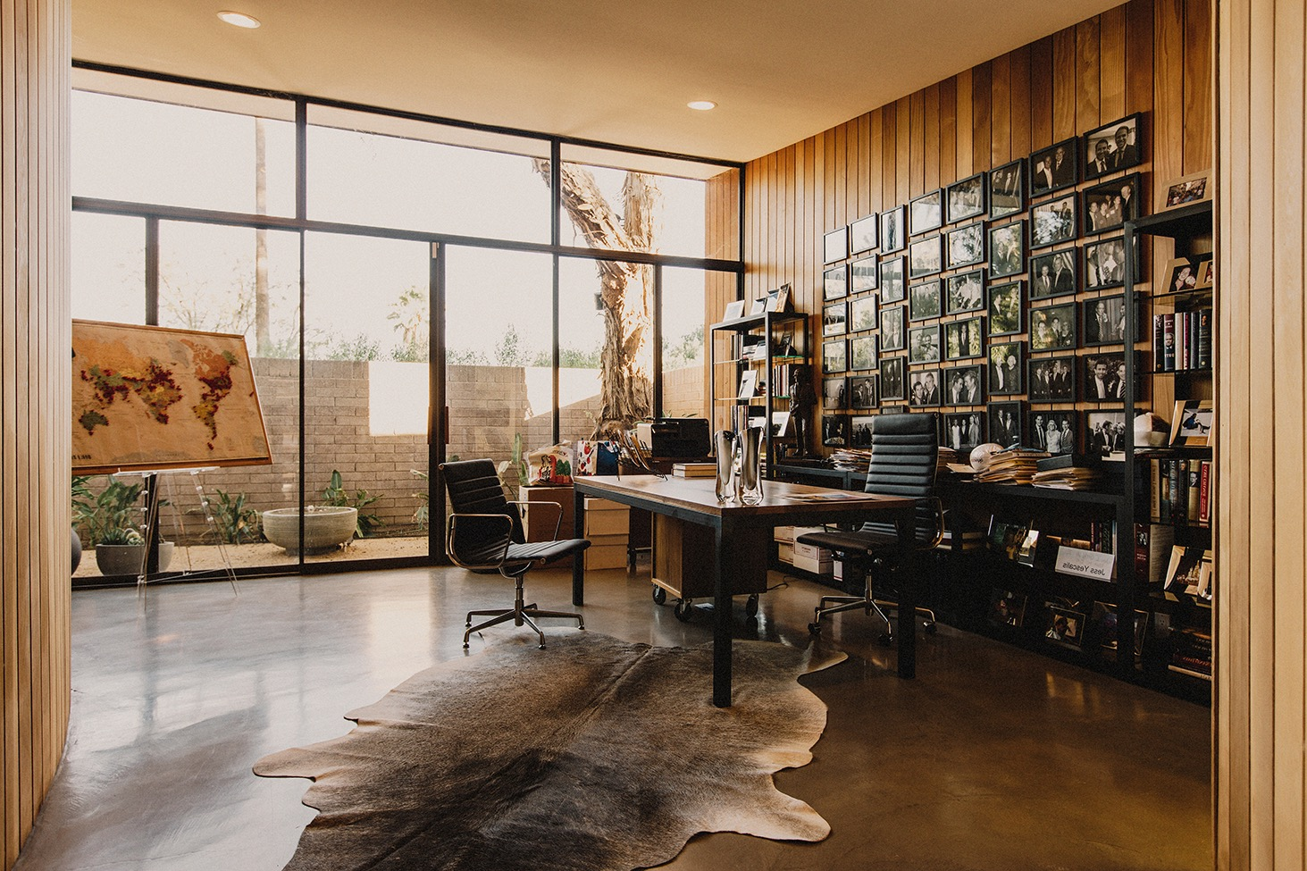 Modern Home Office Decor With Glass Windows And Door (Image 29 of 50)