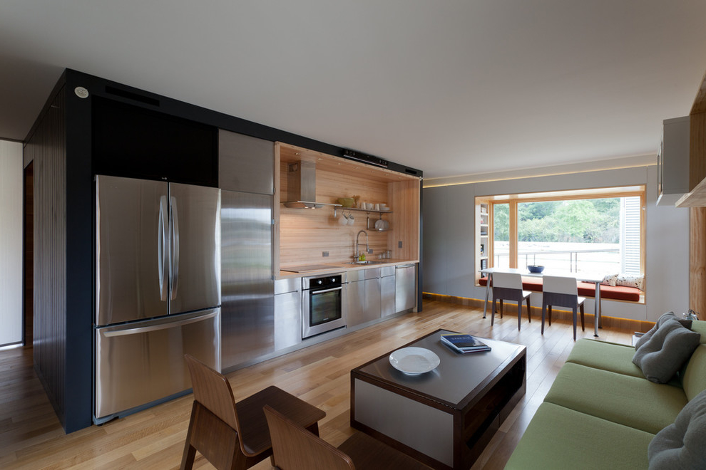 Modern Single Wall Apartment Kitchen (Image 10 of 15)