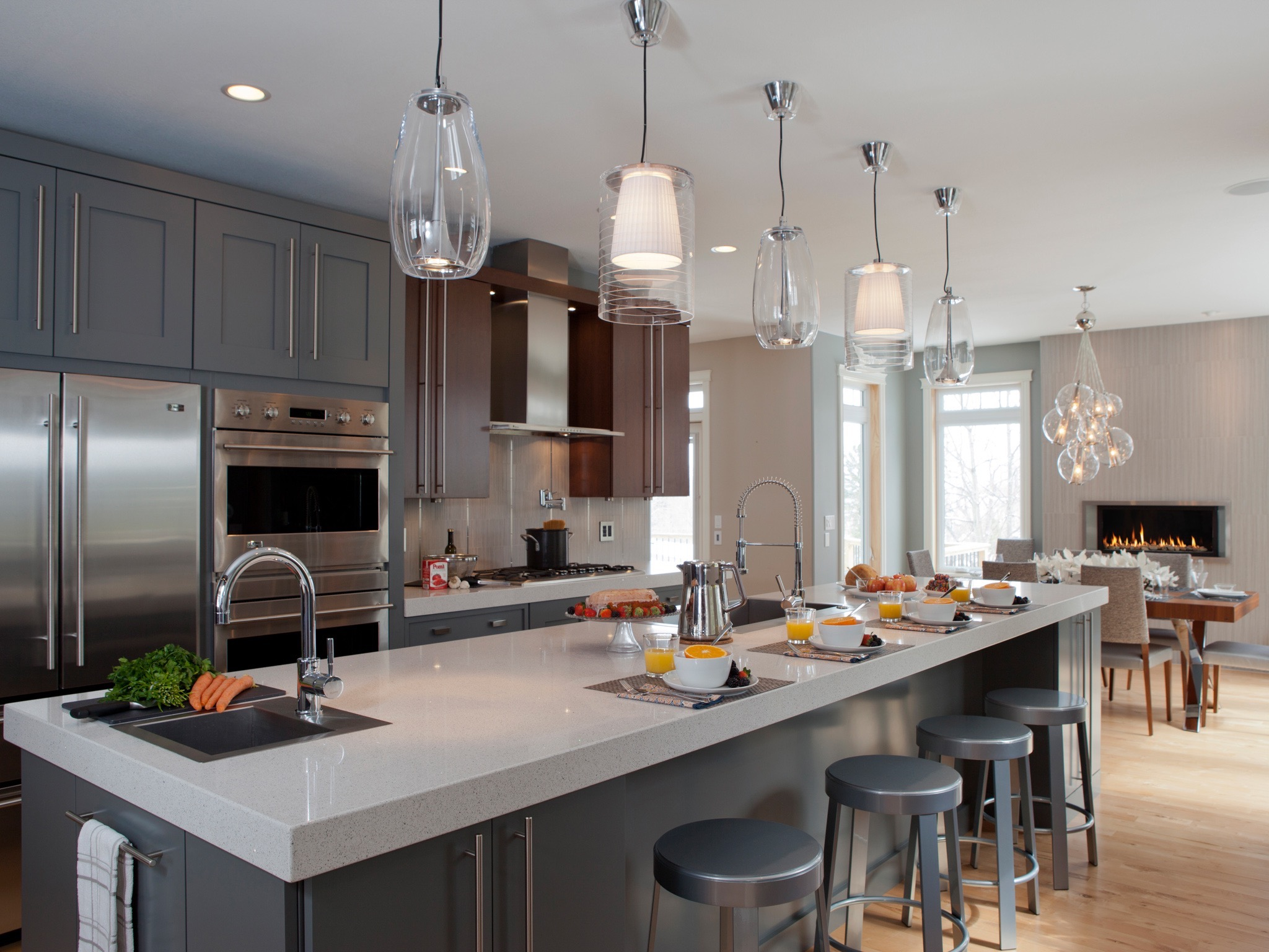 Modern Stunning Pentant Lights For Kitchen (View 32 of 39)