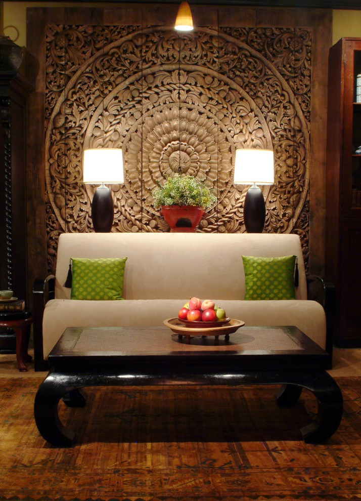 Oriental Thailand Inspired Living Room Decor Style (View 5 of 20)