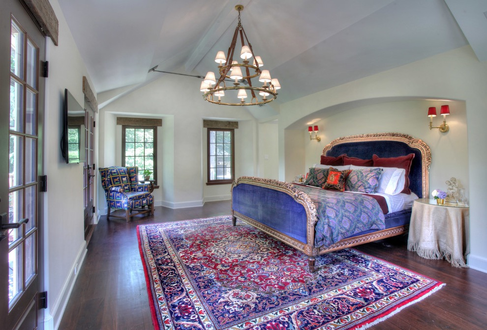 Rustic Indian Bedroom With Elaborate Indian Rug Pattern (View 24 of 30)