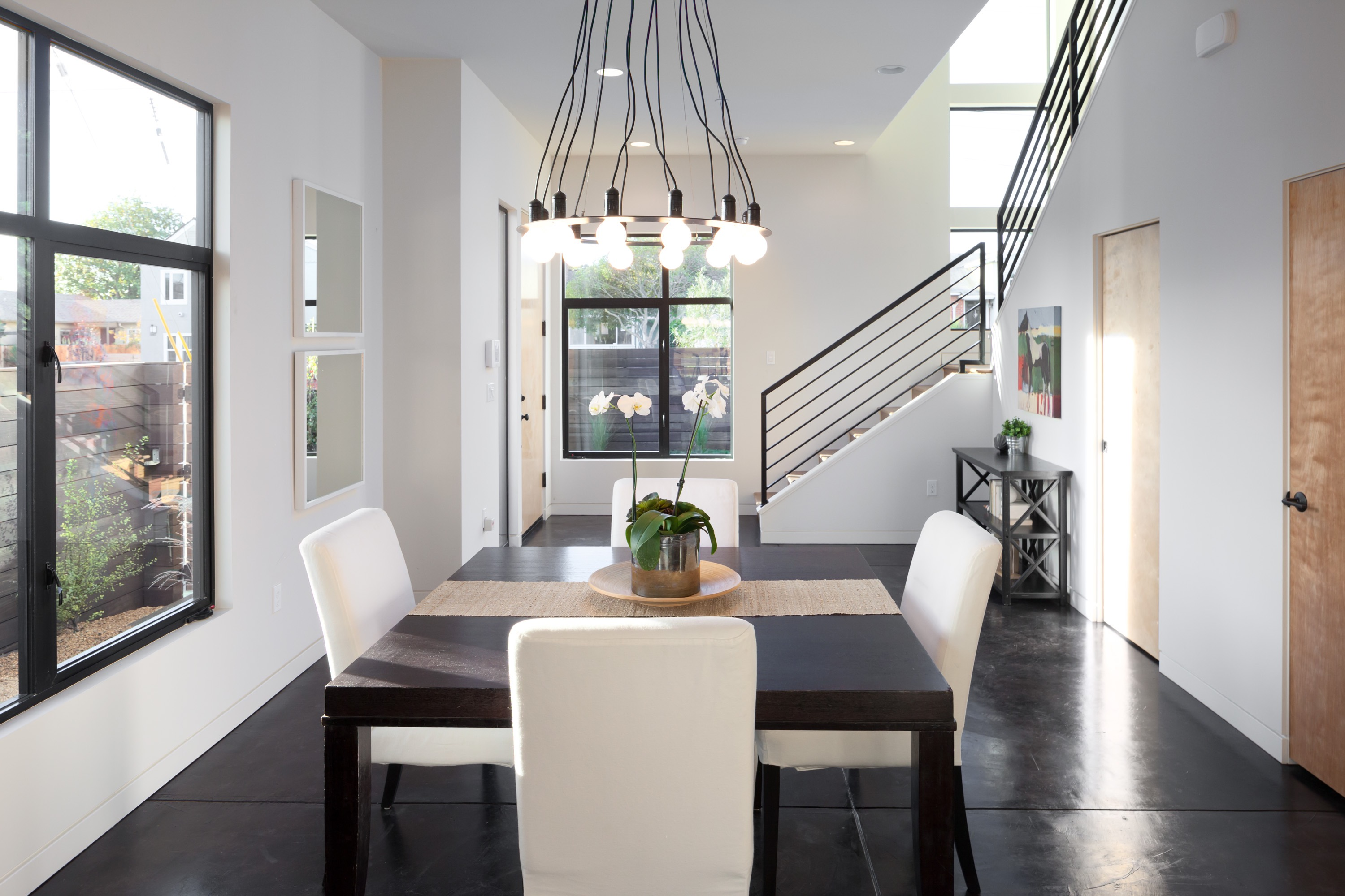 Small Modern Dining Room With Square Table And 4 Chairs (Image 29 of 30)