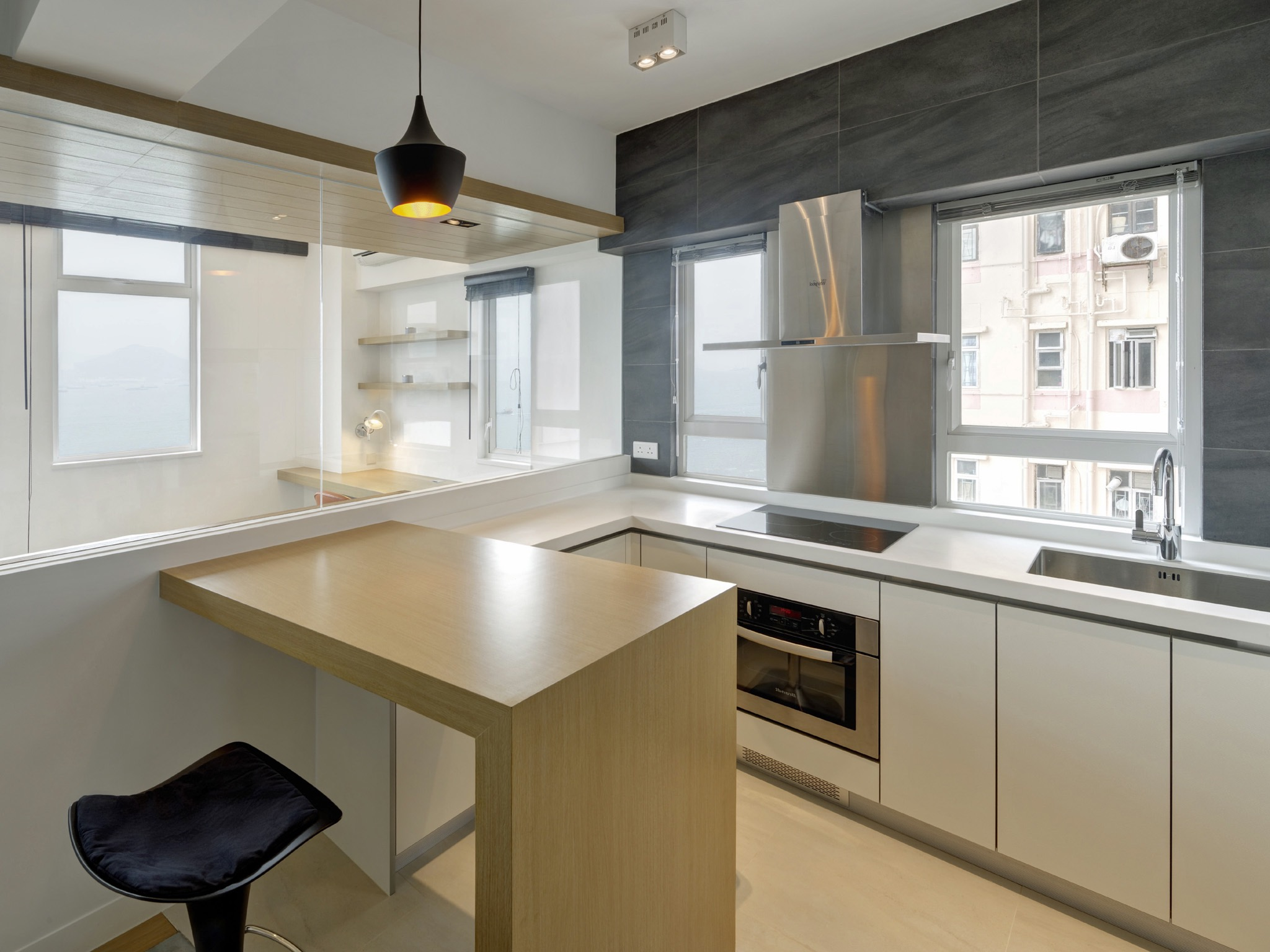 Small Contemporary Apartment Kitchen (Image 8 of 24)