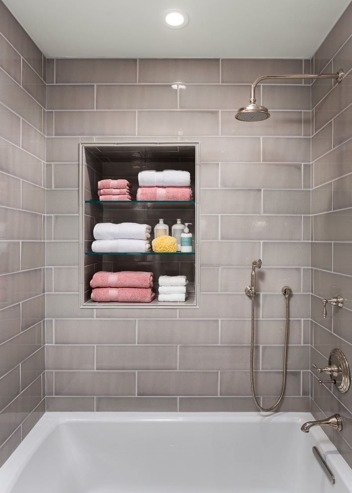 Traditional Tiny Bathroom Remodel To Modern Nuance (Image 16 of 17)
