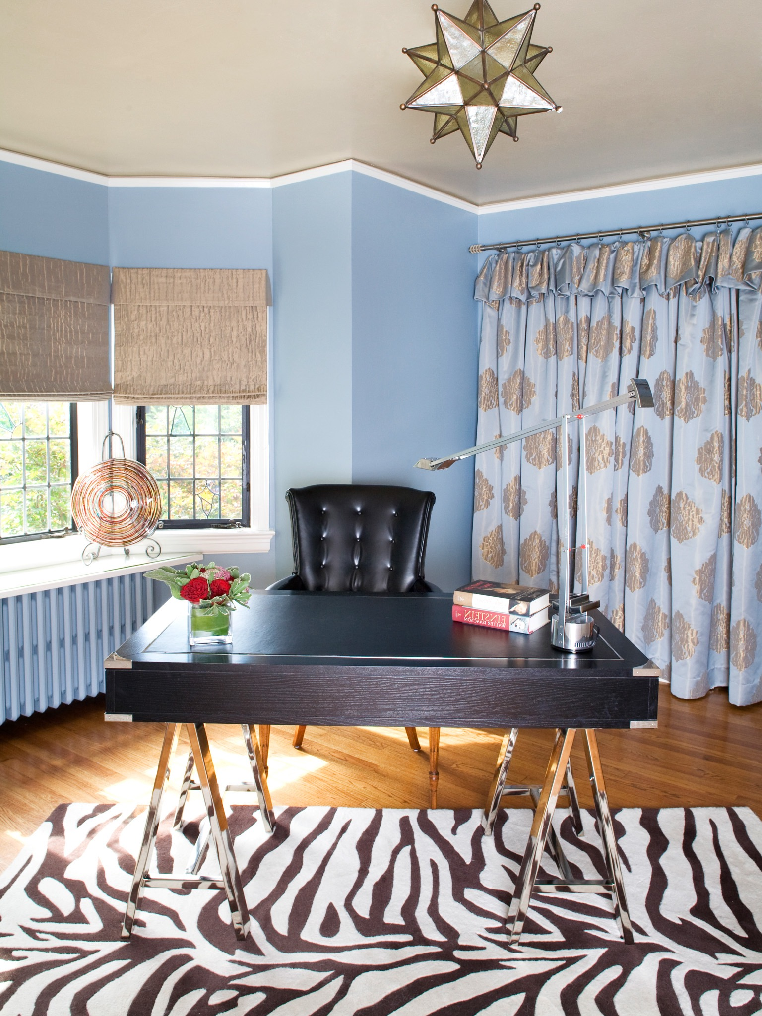 Traditional Workspace Remodel With Black White Rug (Image 49 of 50)