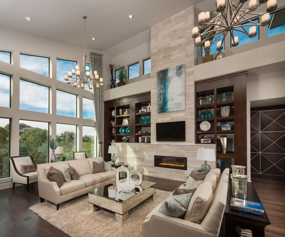 Transitional Living Room In Luxury Nuance (Image 29 of 32)