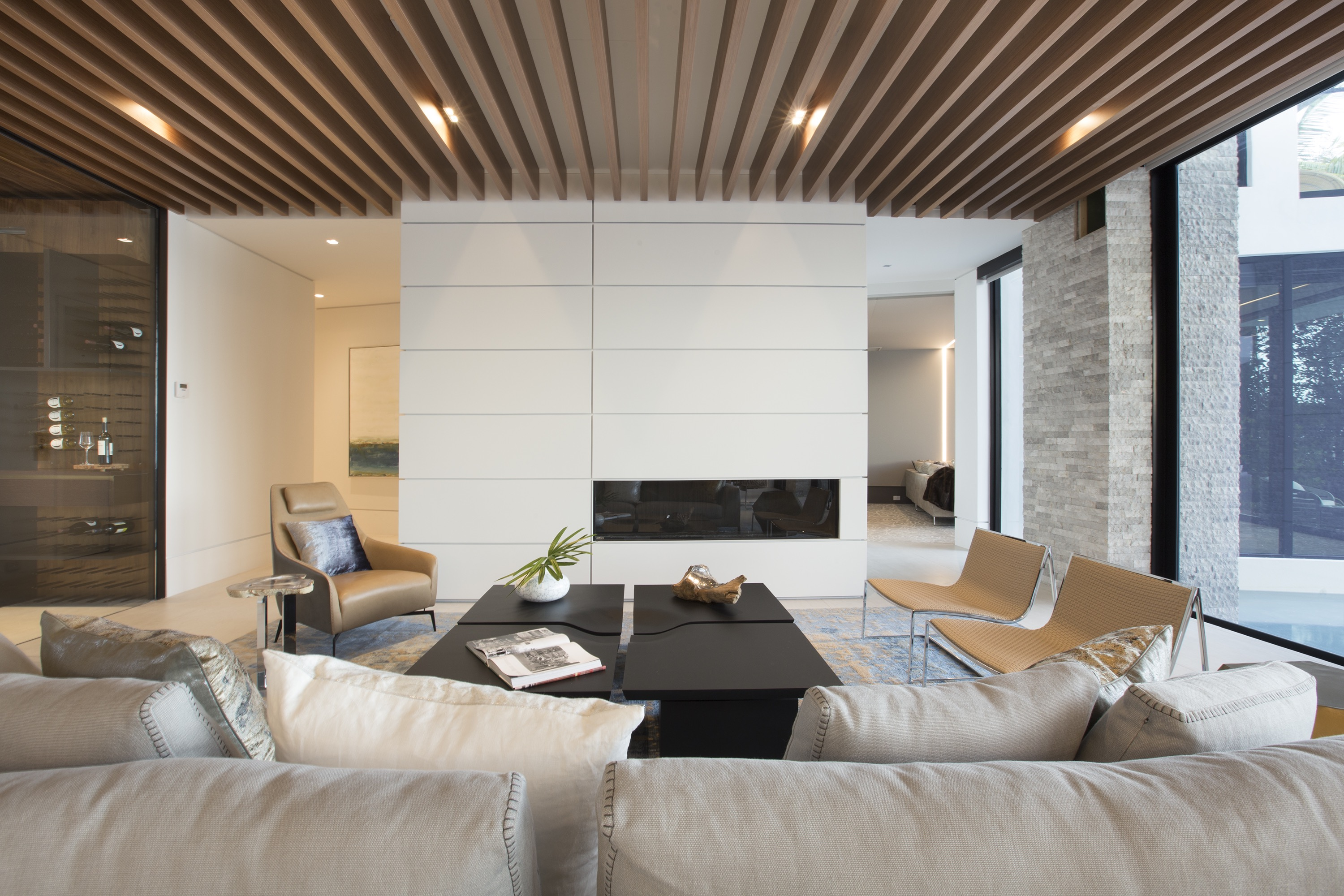 Trendy Futuristic Contemporary Living Room (Image 31 of 31)