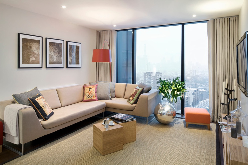 Trendy Modern Apartment Living Room Design (View 27 of 30)
