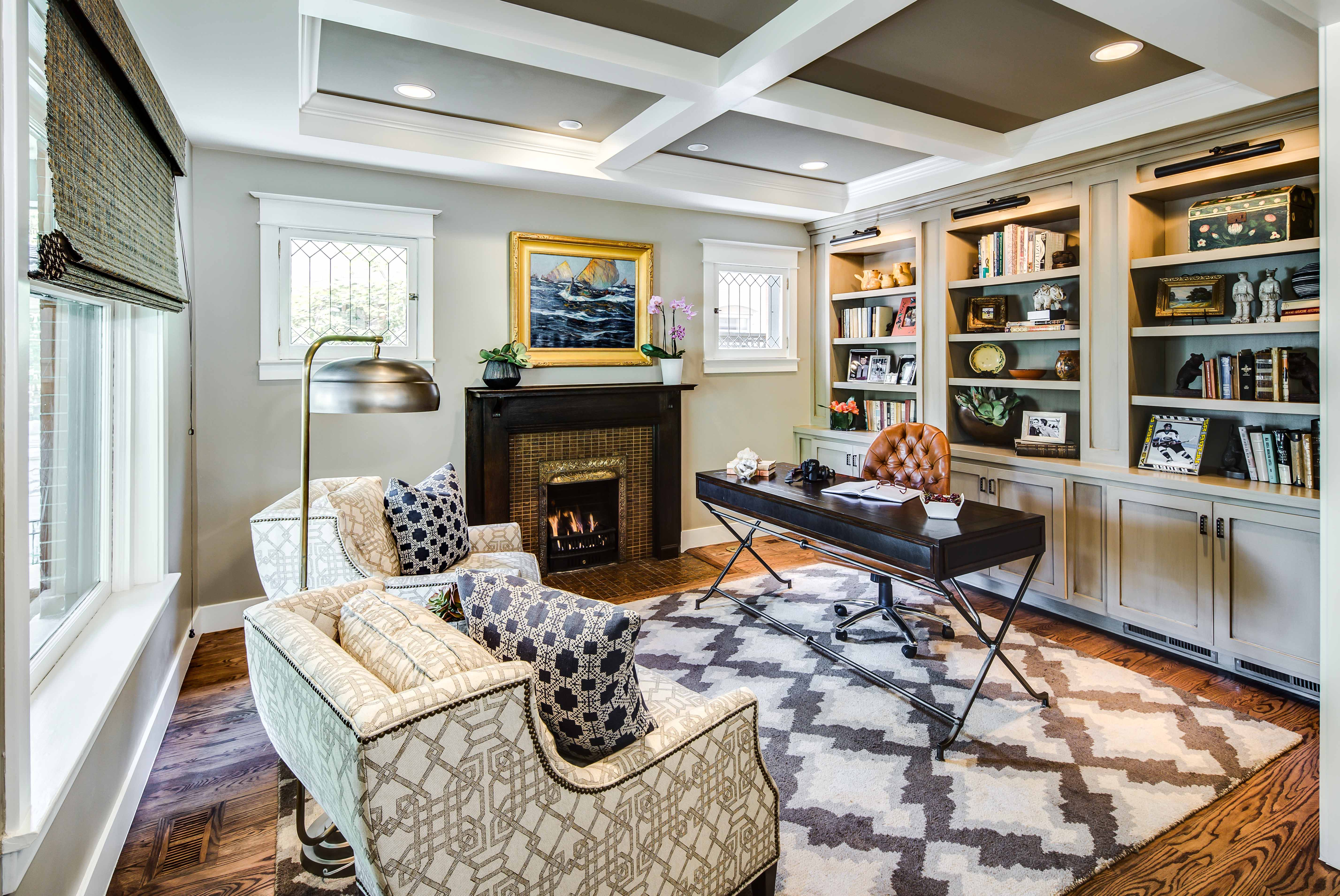 Warm Eclectic Home Office Design (View 50 of 50)