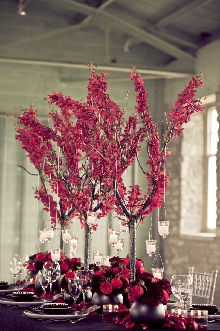 Beauty High Branch And Flower Wedding Centerpieces (Image 1 of 12)