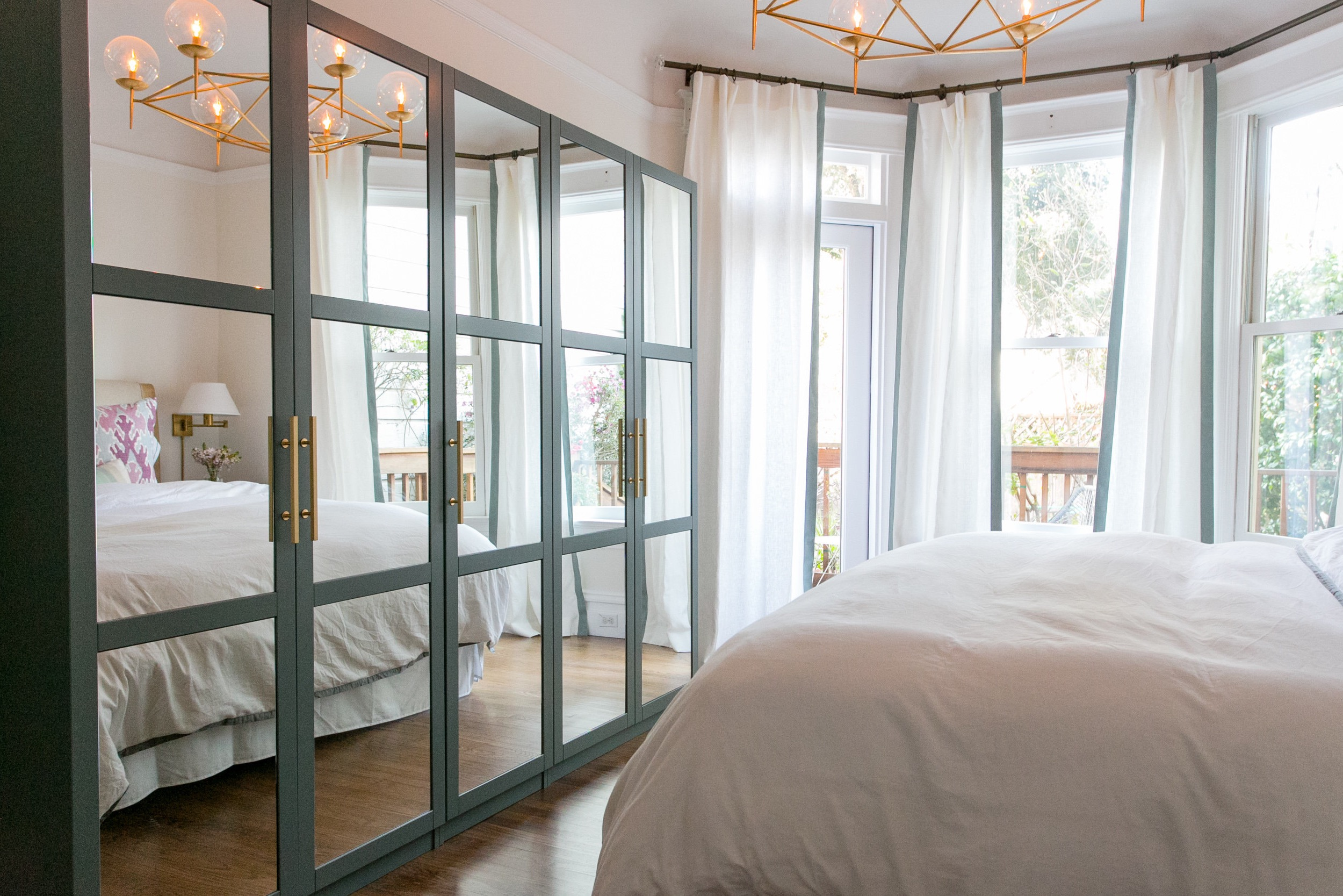 Contemporary Mirrored Bedroom Closet Doors (Image 2 of 20)