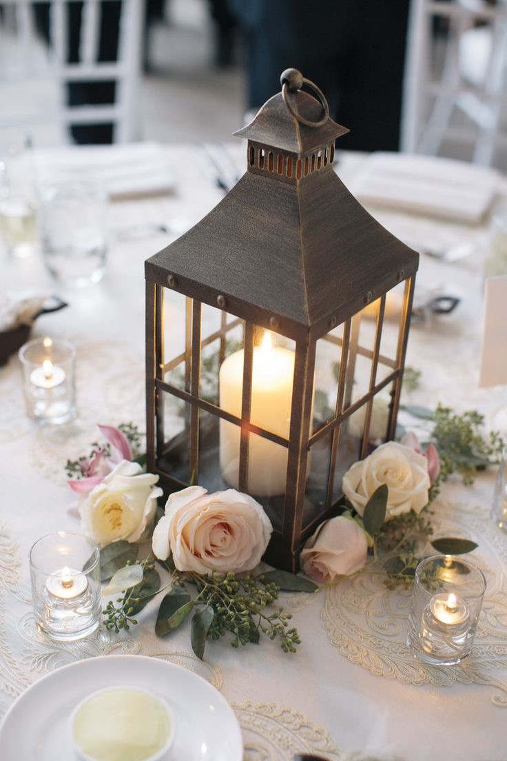 DIY Candle Non Floral Centerpiece Inside The Cage For Wedding (Image 9 of 35)