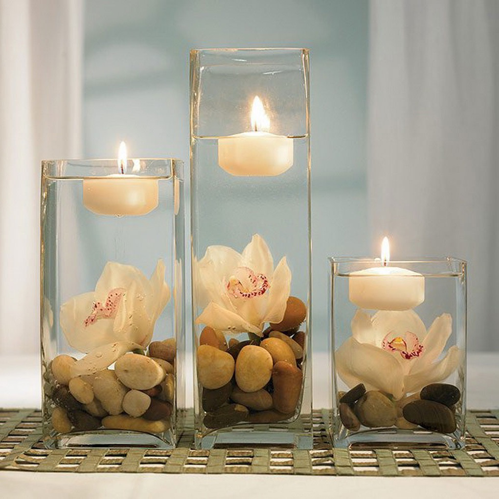 DIY Floating Candle With Rock Centerpiece (Image 10 of 35)