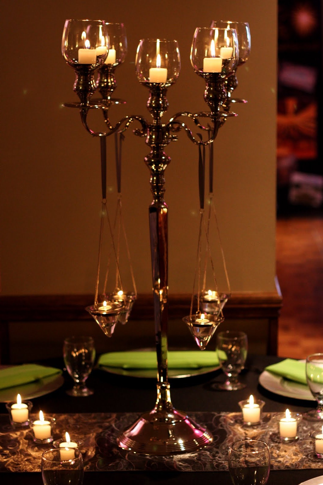 Deluxe High Candelabra Centerpieces For Wedding Table (Image 6 of 12)