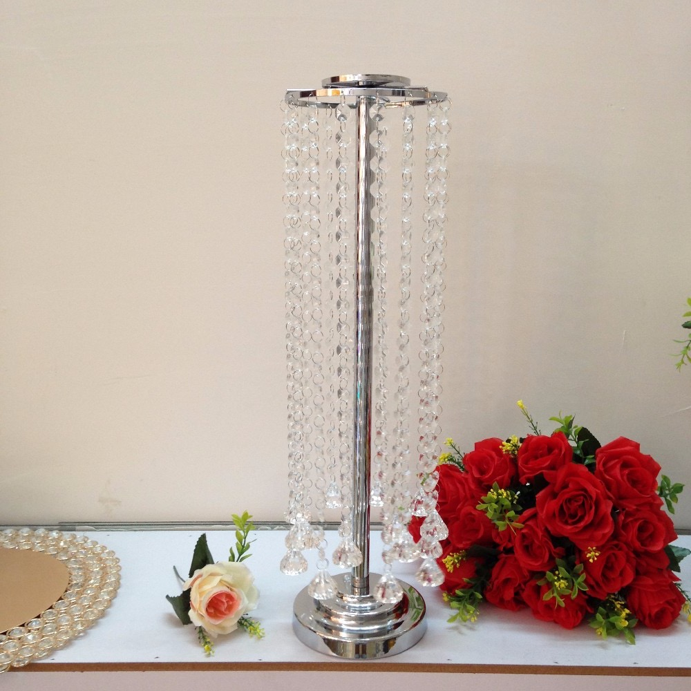 High Quality Tall Crystal Centerpieces For Wedding Decoration (Image 9 of 12)