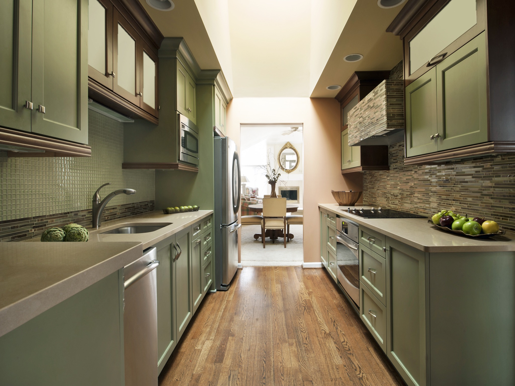 Kitchen Design Long Narrow Open