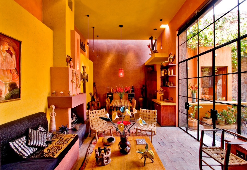 Mexican home decor tips with rich ethnicity 3197 for Rich colors for living room