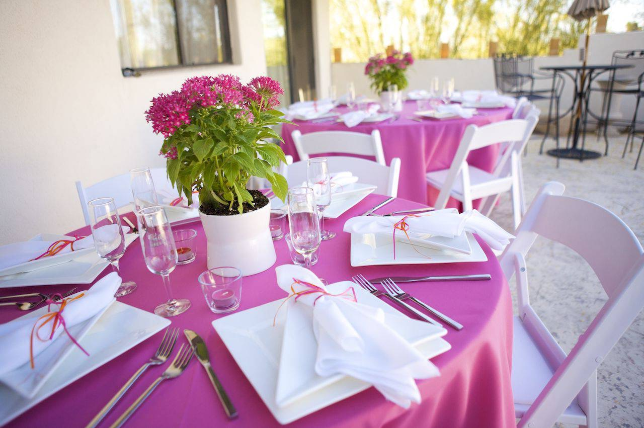 Romantic Pink And Green Wedding Table Centerpiece Decor Theme (Image 12 of 15)