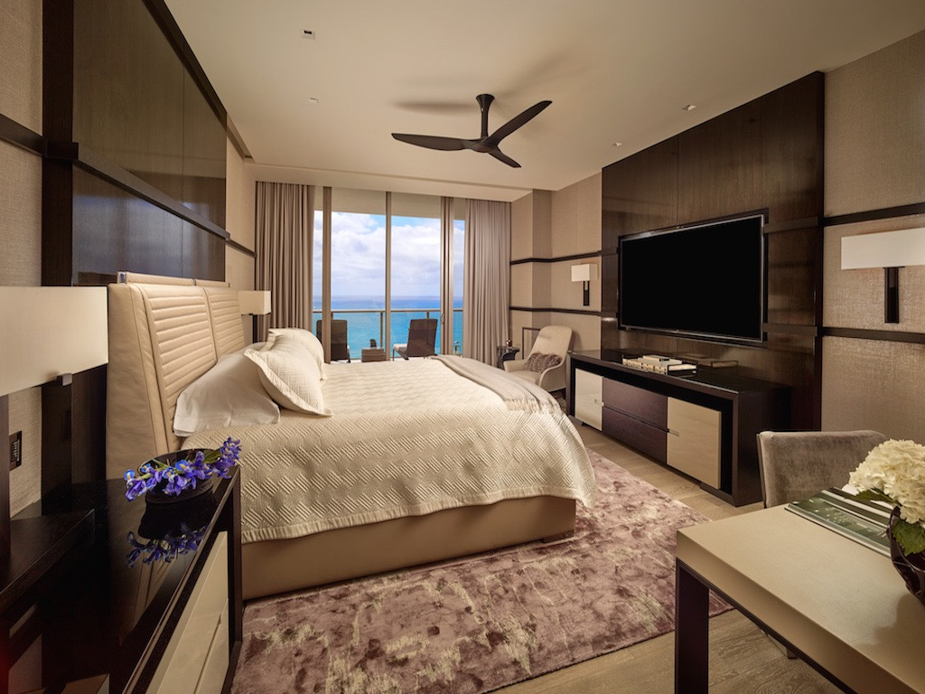 Contemporary Hotel Inspired Bedroom With King Size Bed (Image 5 of 25)