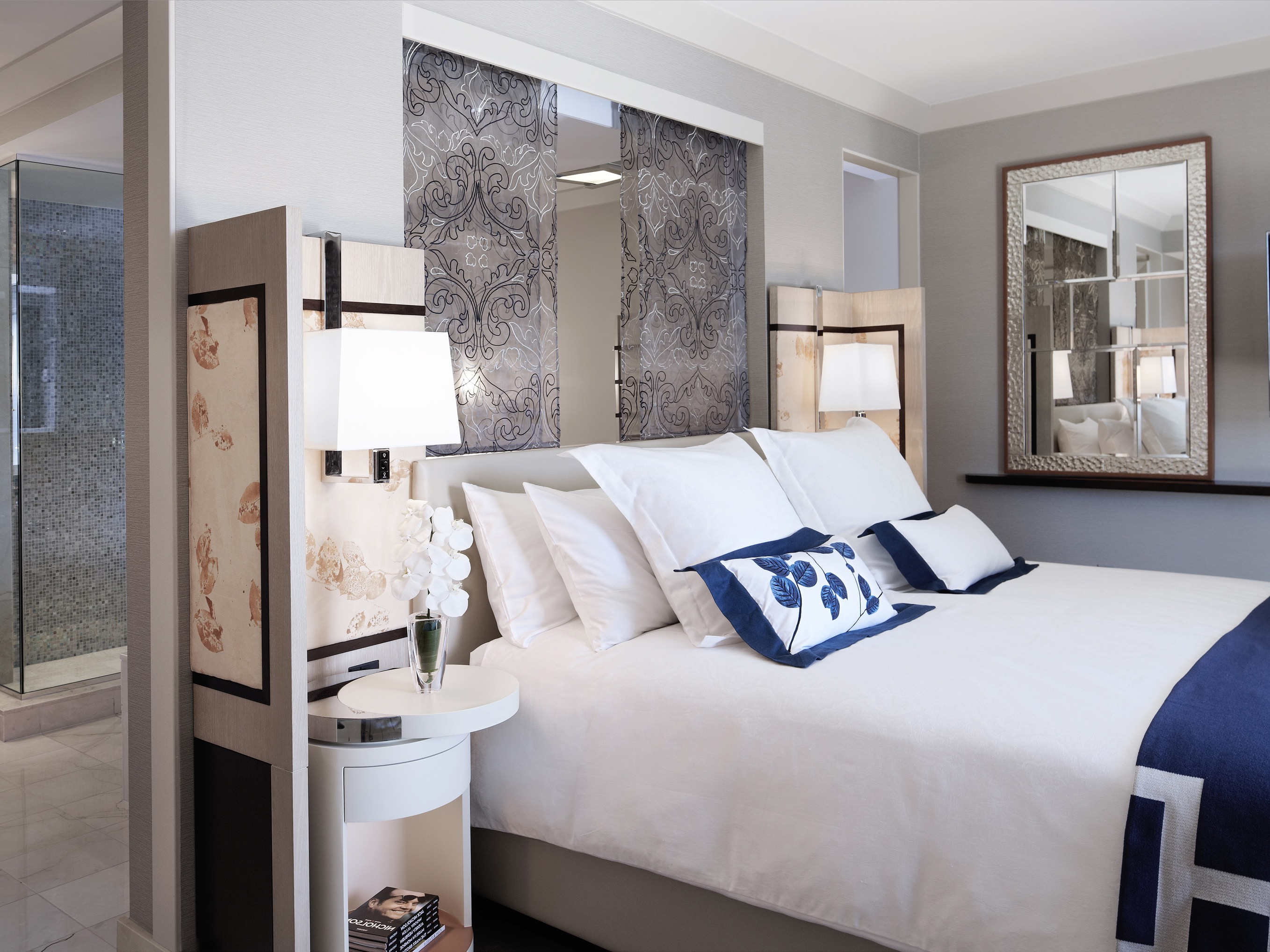 Contemporary Modern Bedroom Mirror Placement (Image 3 Of 20)