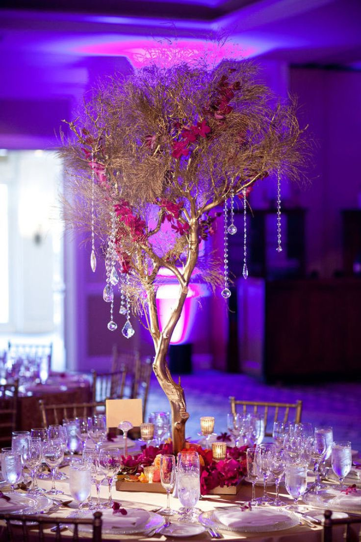Fabulous High Non Floral Centerpiece For Wedding Reception Table (Image 13 of 35)