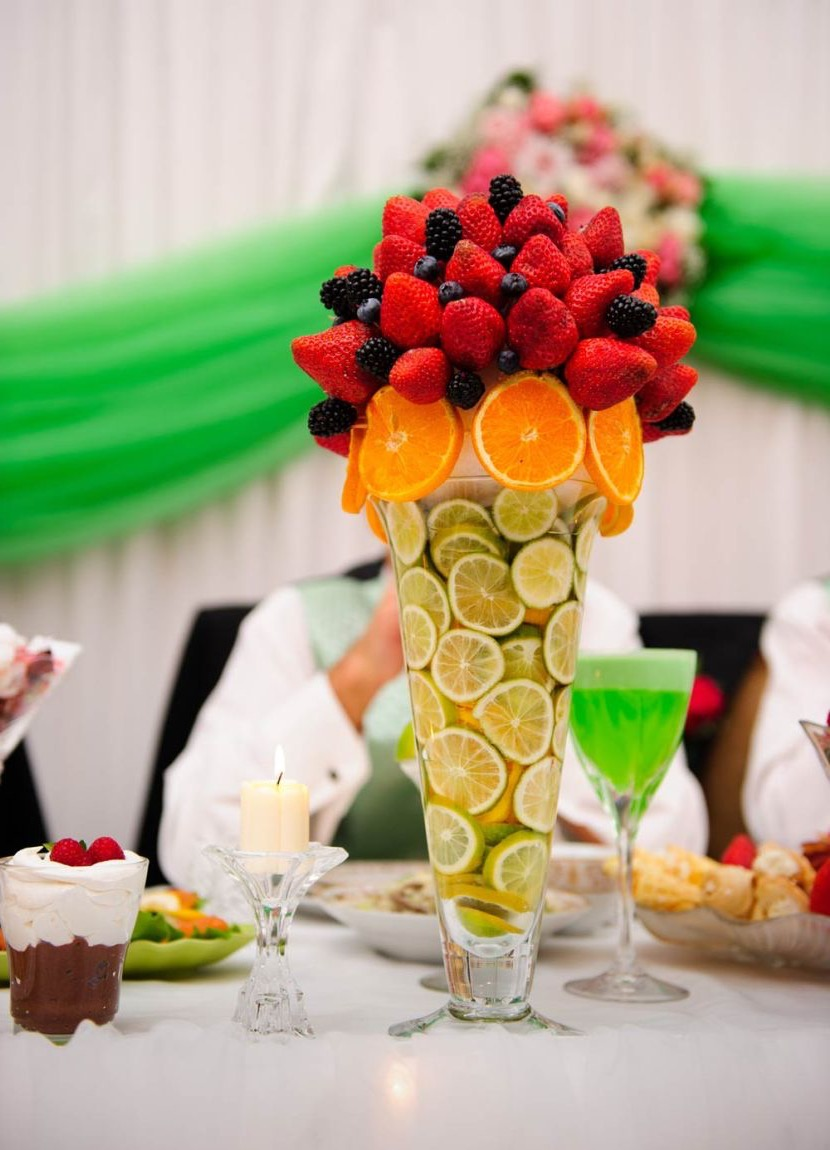 Fresh Lime, Citrus And Berry Summer Wedding Centerpiece (Image 7 of 20)