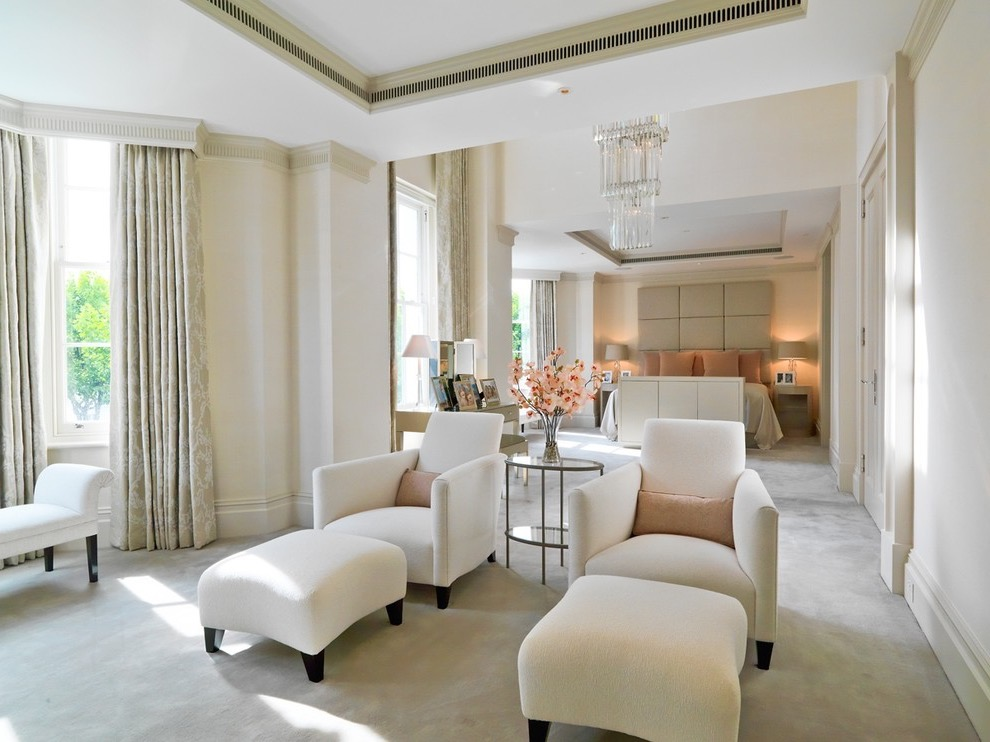 Luxurious Elegance Hotel Like Bedroom For Large Interior (View 15 of 25)