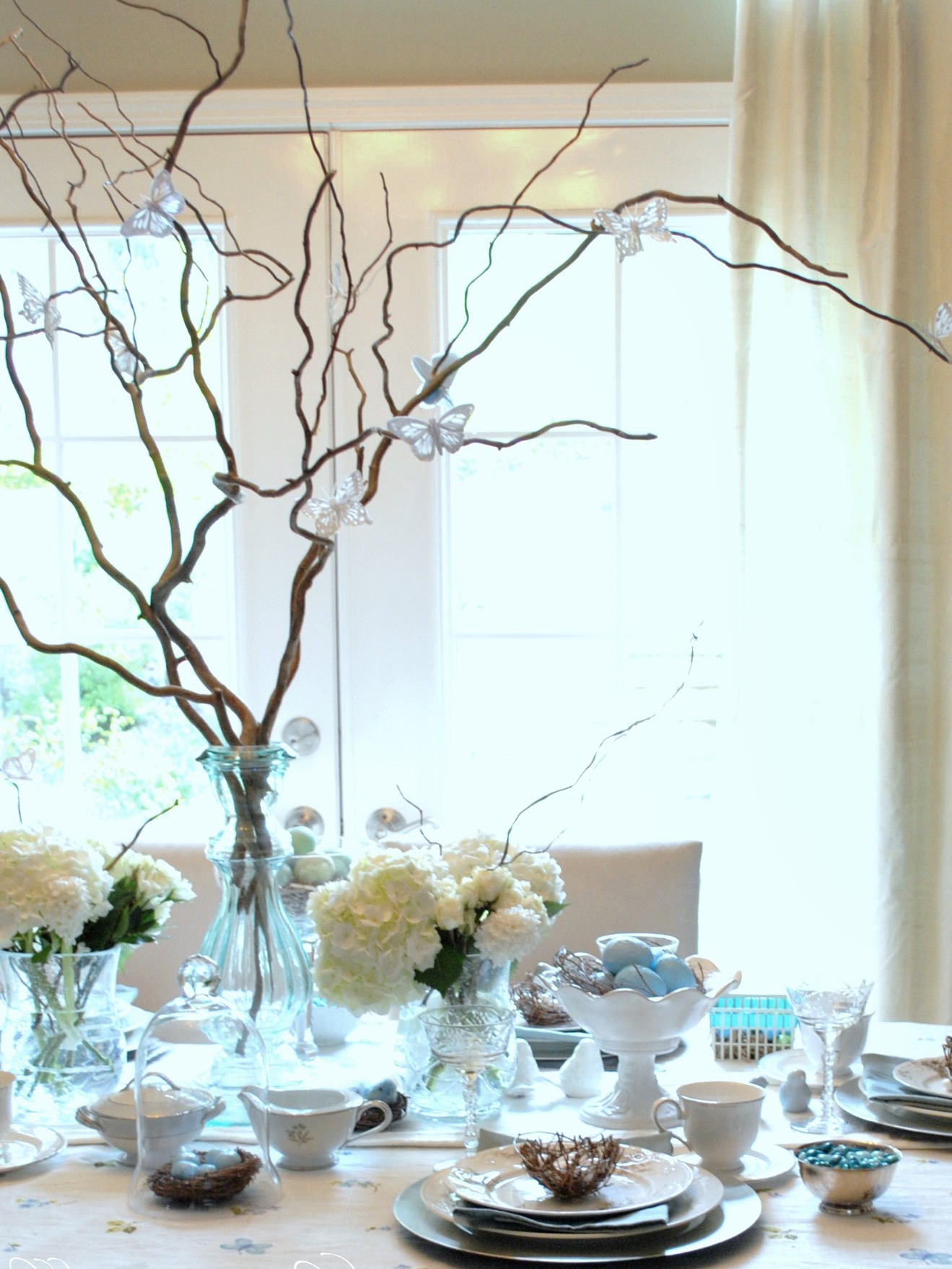 Manzanita Branches With Decorative Paper Butterflies Non Floral Wedding Centerpiece (Image 25 of 35)